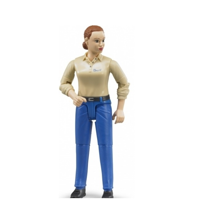 Фигурка женщины, голубые джинсы по цене 880