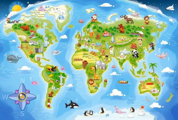 Пазл Castorland 40 деталей maxi, Карта мираПазлы<br>Пазл Castorland 40 деталей maxi, Карта мира<br>