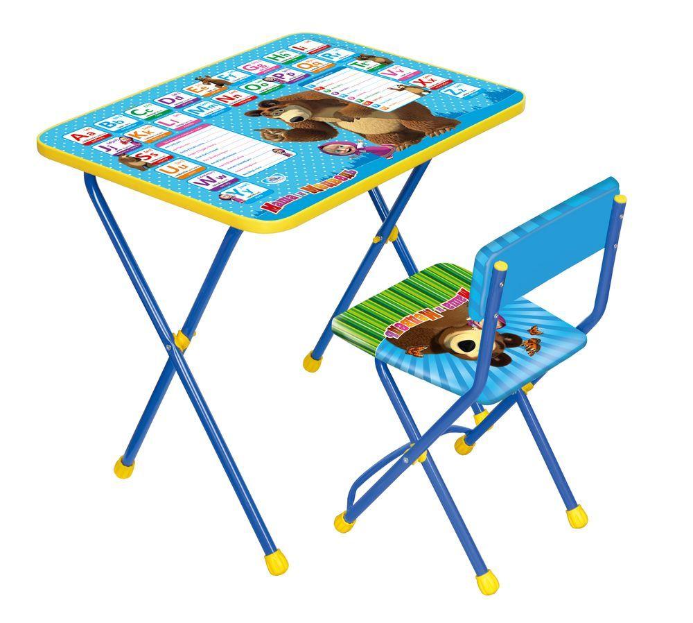 Набор мебели Маша и медведь  Английская азбука, синий - Парты, артикул: 159342