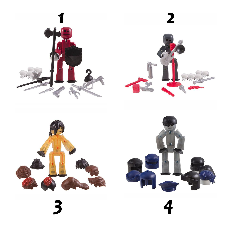 Набор из серии Stikbot - фигурки с аксессуарами, 4 вида Zing