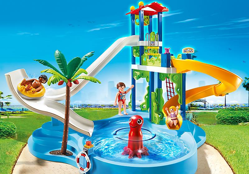 Игровой набор из серии «Аквапарк » - Башня с горками от Toyway