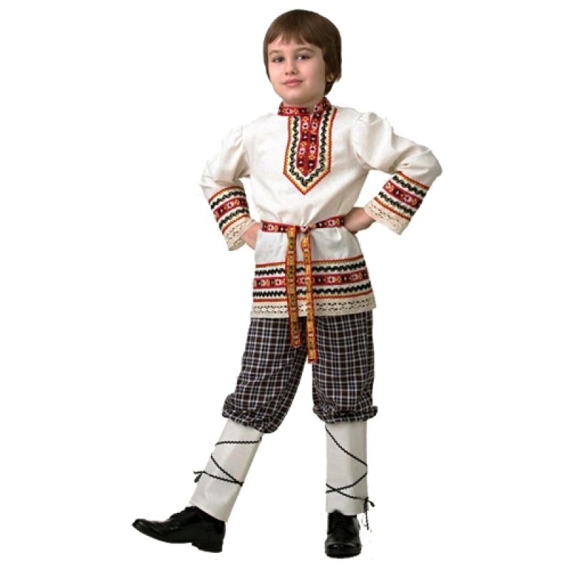 Карнавальный костюм для мальчиков - Славянский костюм Рубашка вышиванка, размер 110-56