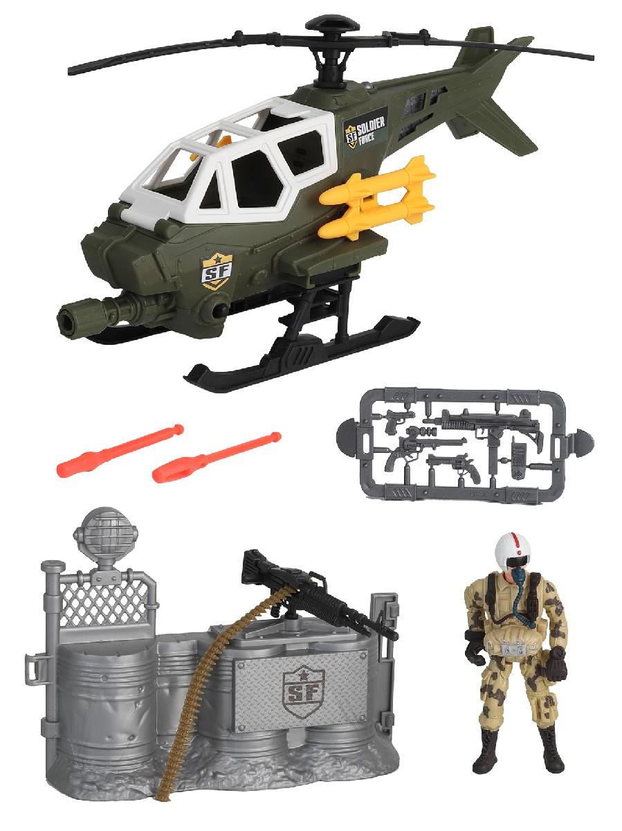 Купить Игровой набор: Солдаты. Стремительная атака на вертолете, Chap Mei