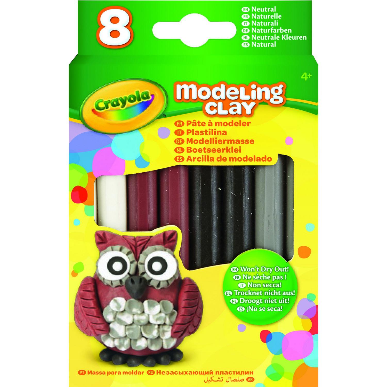 Купить Незасыхающий пластилин - Натуральный, 8 цветов, Crayola
