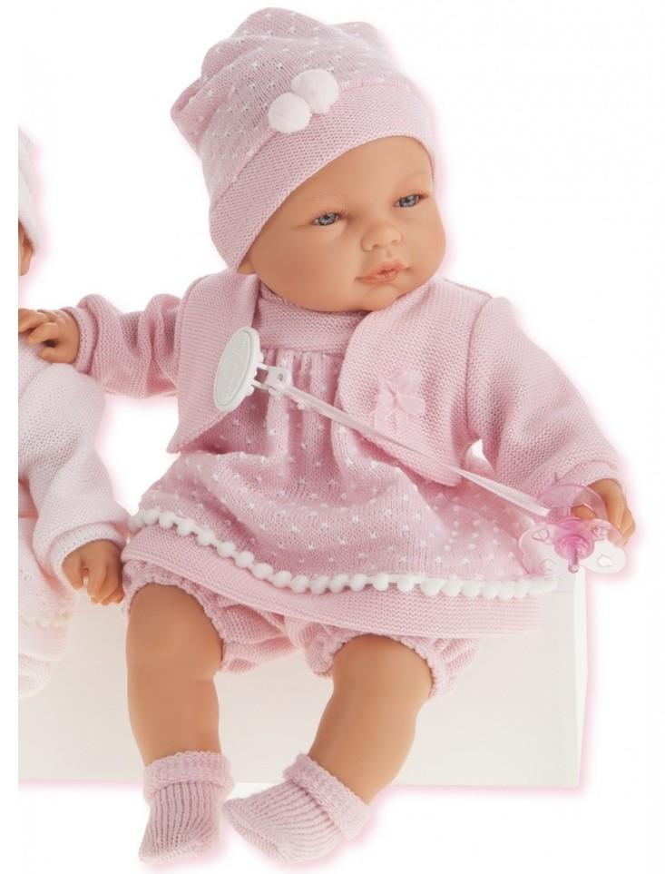 Кукла Соня в ярко-розовом, 37 см, плачетКуклы Антонио Хуан (Antonio Juan Munecas)<br>Кукла Соня в ярко-розовом, 37 см, плачет<br>