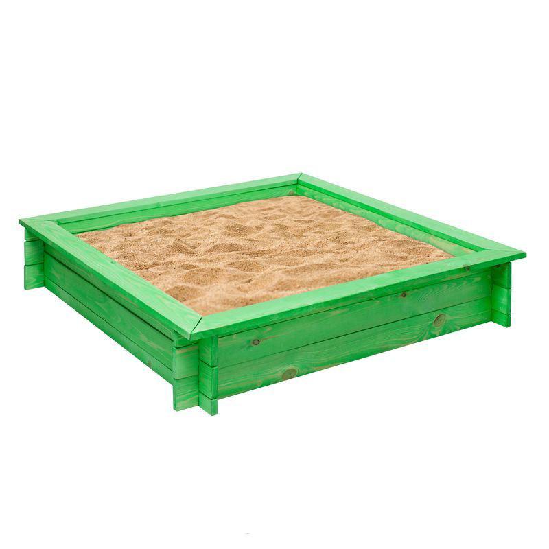 Деревянная песочница – Клио, зеленый - Детские песочницы, артикул: 160381