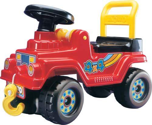 Каталка ДжипМашинки-каталки для детей<br>Машинка-каталка Джип 4Х4 для увлекательной игры – ребенок может не просто кататься сам, но и вытаскивать застрявшие машины!<br>