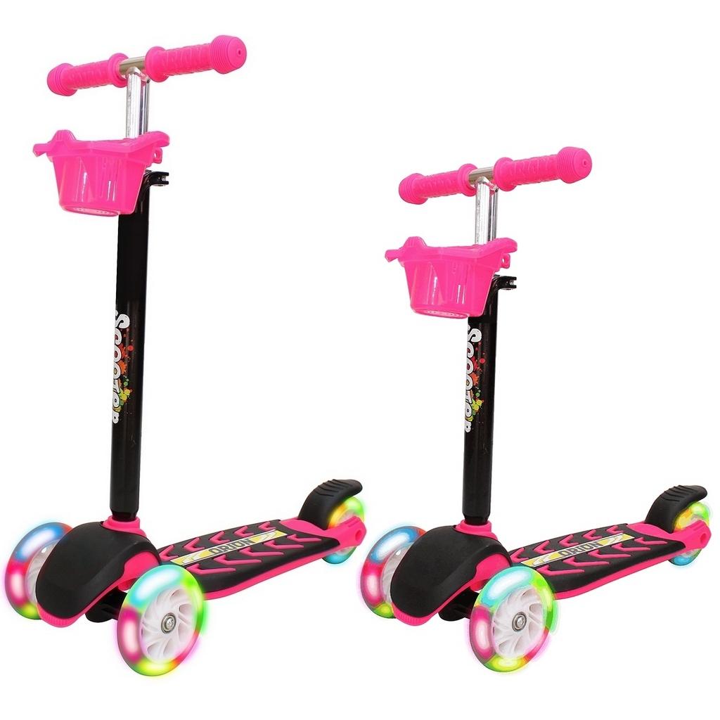 Купить Самокат Midi Orion со светящимися колесами, розовый, RT