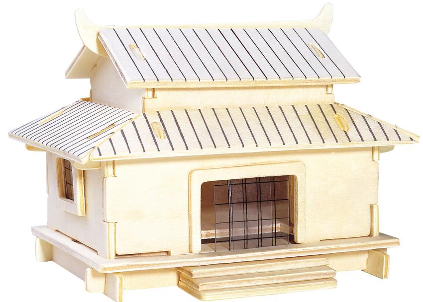 Модель деревянная сборная - ХижинаПазлы объёмные 3D<br>Модель деревянная сборная - Хижина<br>