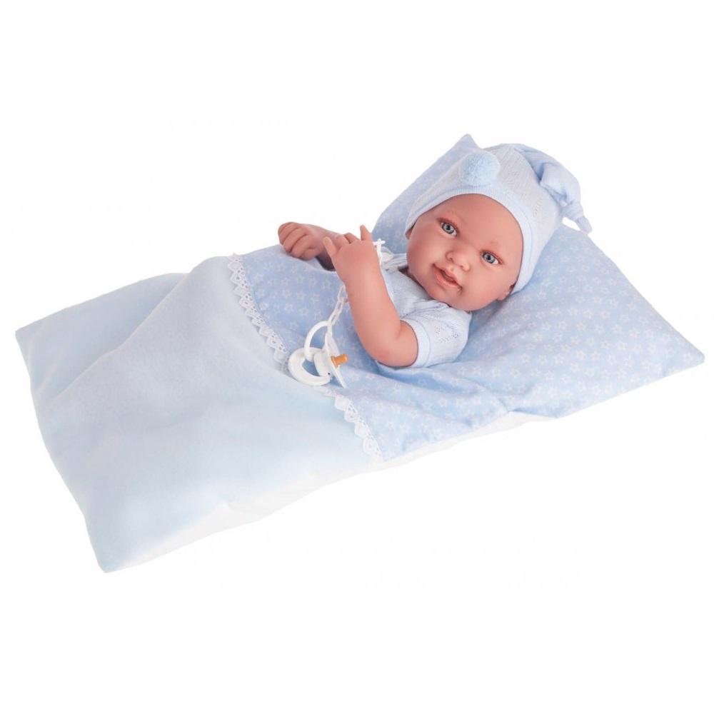 Кукла-младенец Пипо, мальчик в голубом, 42 смКуклы Антонио Хуан (Antonio Juan Munecas)<br>Кукла-младенец Пипо, мальчик в голубом, 42 см<br>