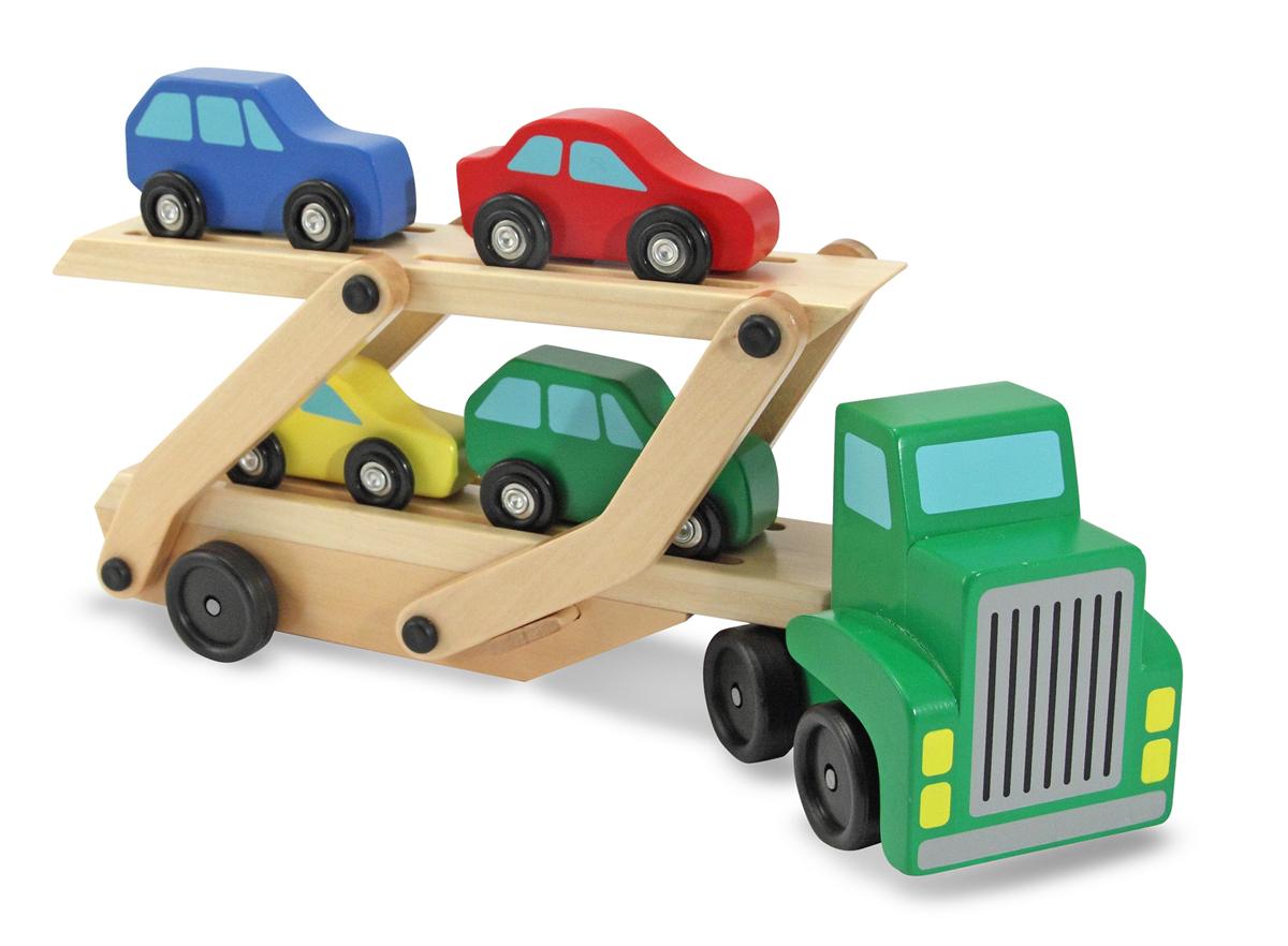 Грузовик для перевозки с 4 машинкамиПаровозики и машинки<br>Грузовик для перевозки с 4 машинками<br>