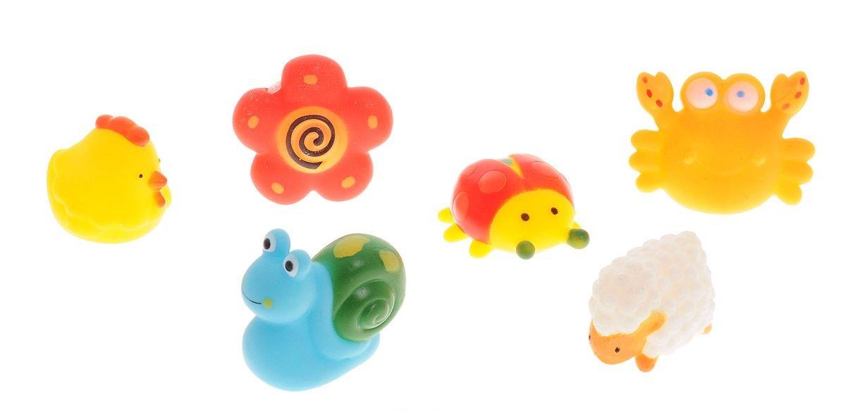 Веселое купание. Набор резиновых игрушек для ванной, в наборе 6 штук, ABtoys  - купить со скидкой