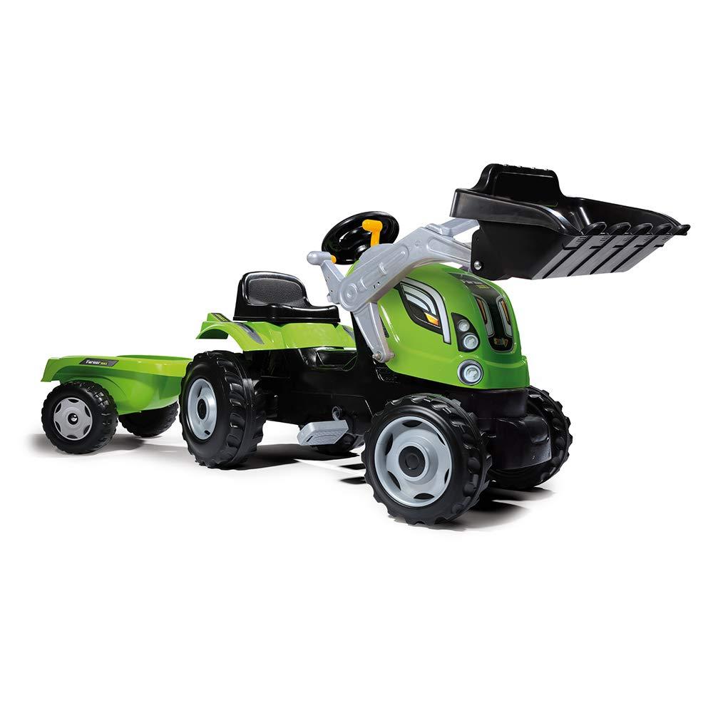 Купить Трактор педальный строительный с прицепом, 168 х 44 х 55 см., Smoby