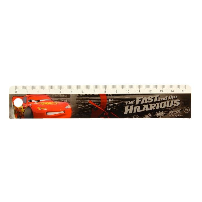 Линейка-закладка из серии Тачки Дисней, 15 см.Ножницы, линейки, ластики<br>Линейка-закладка из серии Тачки Дисней, 15 см.<br>