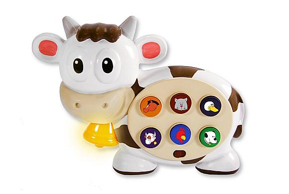 Развивающая игрушка – Корова, со звуковым и световым эффектами - Интерактив для малышей, артикул: 108217