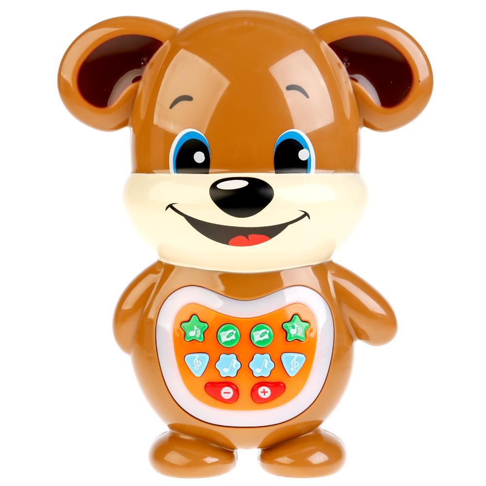 Купить Развивающий щенок-сказочник, 16 песен, сказка, свет и звук, Умка