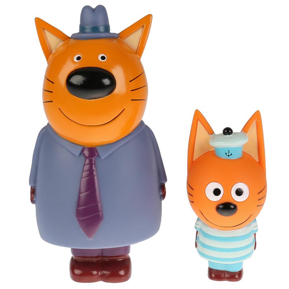 Купить Набор из 2-х игрушек для ванны серия Три Кота: папа и Коржик, Капитошка