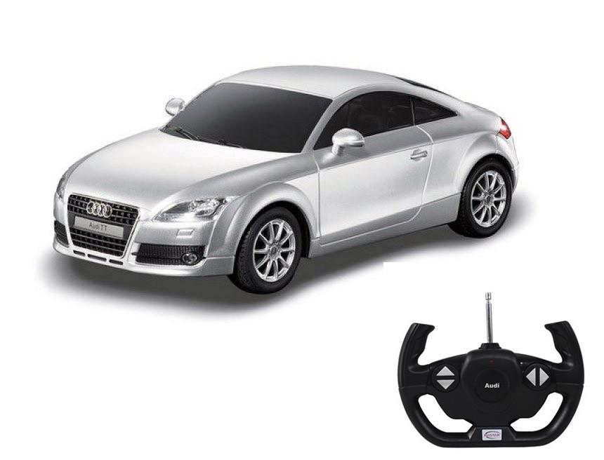 картинка Машина на радиоуправлении 1:14 Audi TT, цвет – серебряный от магазина Bebikam.ru