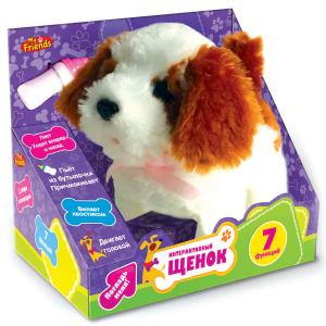 Интерактивный щенок My friends, озвученный, с бутылочкойИнтерактивные животные<br>Интерактивный щенок My friends, озвученный, с бутылочкой<br>