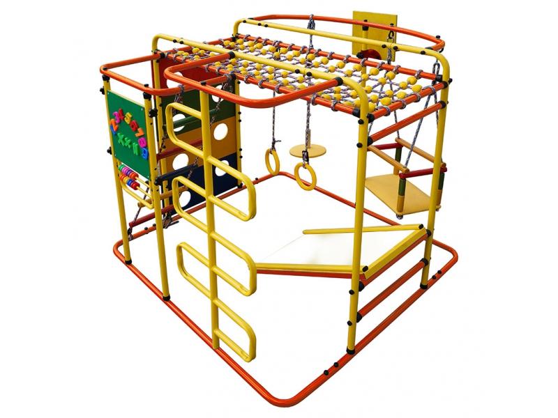Купить Детский спортивный комплекс Мурзилка S, цвет - оранжевый/радуга, Формула здоровья