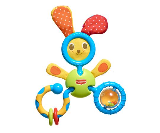 Развивающая погремушка-трансформер для малышей - Заяц КоськаРазвивающие игрушки Tiny Love<br>Развивающая погремушка-трансформер для малышей - Заяц Коська<br>
