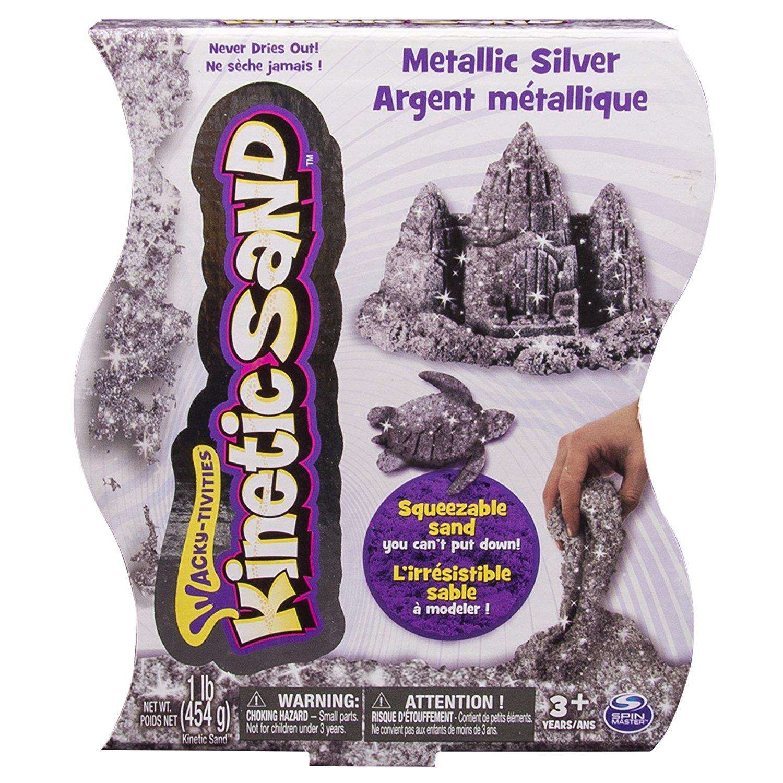 Песок для лепки - Драгоценные камни, 455 г, серебряныйКинетический песок<br>Песок для лепки - Драгоценные камни, 455 г, серебряный<br>