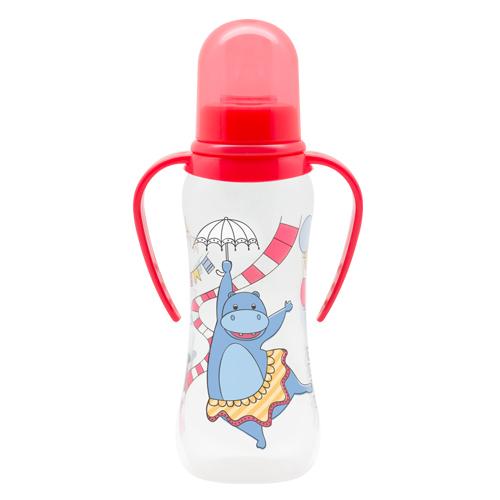 Бутылочка для кормления Just Lubby с ручками и соской молочной, от 0 мес., 250 мл.Бутылочки<br>Бутылочка для кормления Just Lubby с ручками и соской молочной, от 0 мес., 250 мл.<br>