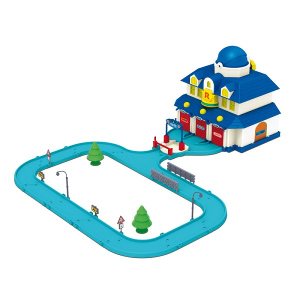 Детский игровой набор Штаб квартира Robocar Poli и вертолет Хэли - Robocar Poli. Робокар Поли и его друзья, артикул: 24256