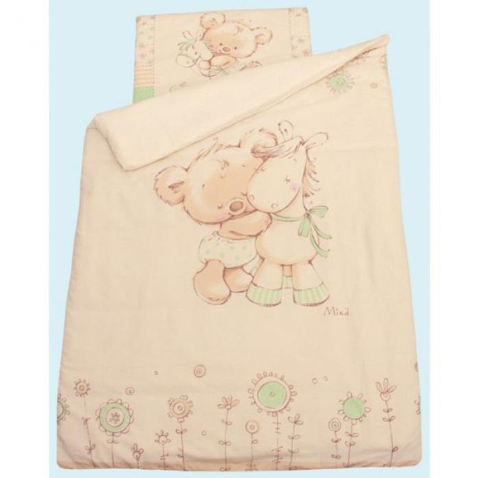 Комплект постельного белья - Mika, зеленыйДетское постельное белье<br>Комплект постельного белья - Mika, зеленый<br>