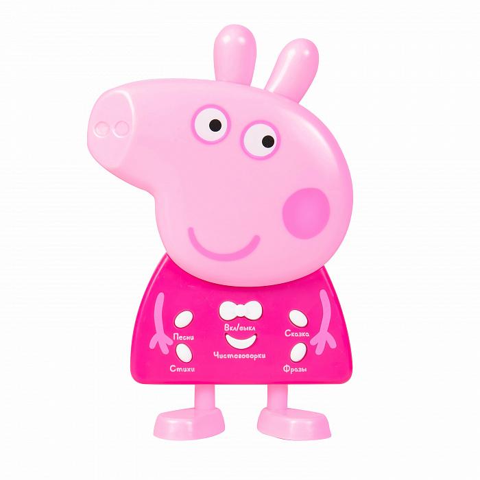 Купить Интерактивная фигурка со звуком. ТМ Peppa Pig - Свинка Пеппа, свет и звук, Росмэн