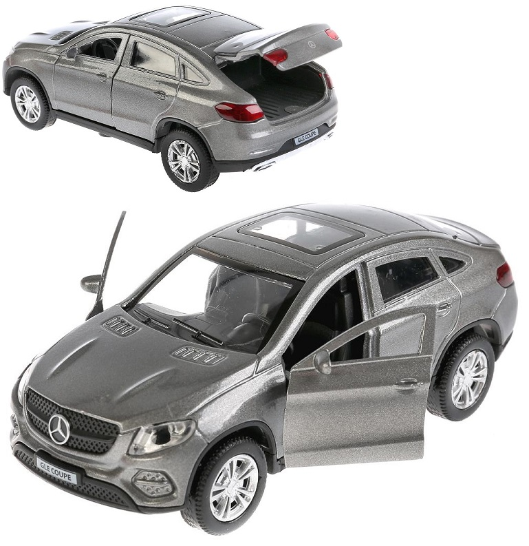 Купить Машина металлическая Mercedes-Benz GLE Coupe 12 см., открываются двери, инерционная, цвет - серый, Технопарк