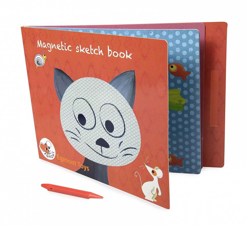 Купить Детская настольная магнитная игра – Котик, с ручкой, Egmont