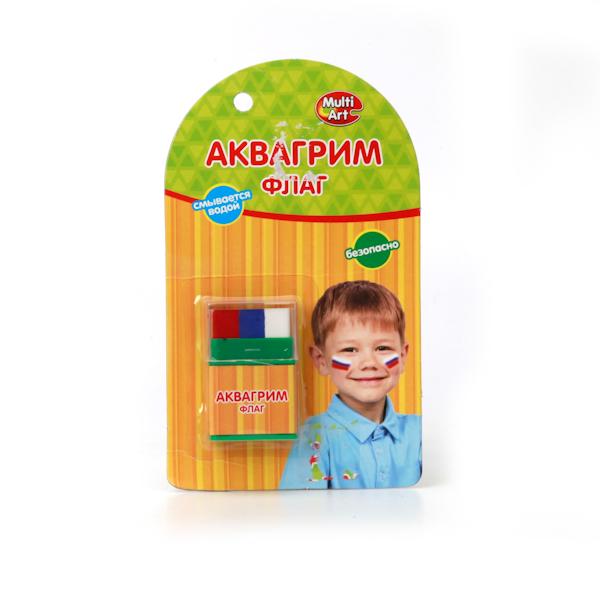 Аквагрим – мелки Multiart, 3 цвета «Флаг»Грим для лица и тату<br>Аквагрим – мелки Multiart, 3 цвета «Флаг»<br>