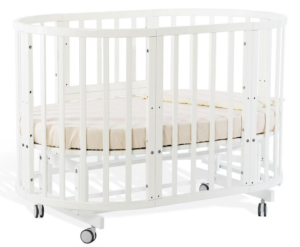 Кровать-трансформер Nido Magia, белыйДетские кровати и мягкая мебель<br>Кровать-трансформер Nido Magia, белый<br>
