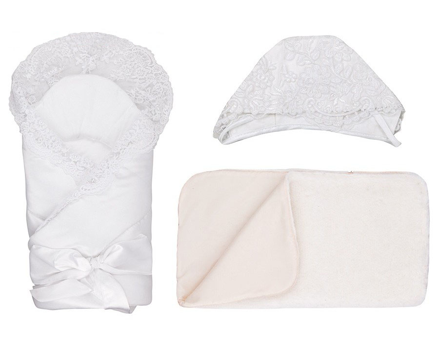 Купить Конверт-одеяло на выписку М-2014, серый, Мой Ангелок