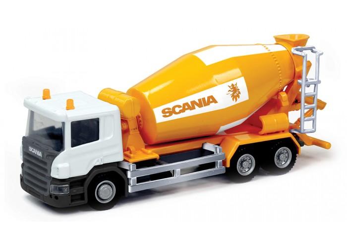 Машина металлическая - Бетономешалка Scania, Rmz City, 1:64Бетономешалки, строительная техника<br>Машина металлическая - Бетономешалка Scania, Rmz City, 1:64<br>
