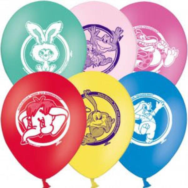 Набор шаров – Мультфильмы, 5 шт. по 30 см.Воздушные шары<br>Набор шаров – Мультфильмы, 5 шт. по 30 см.<br>