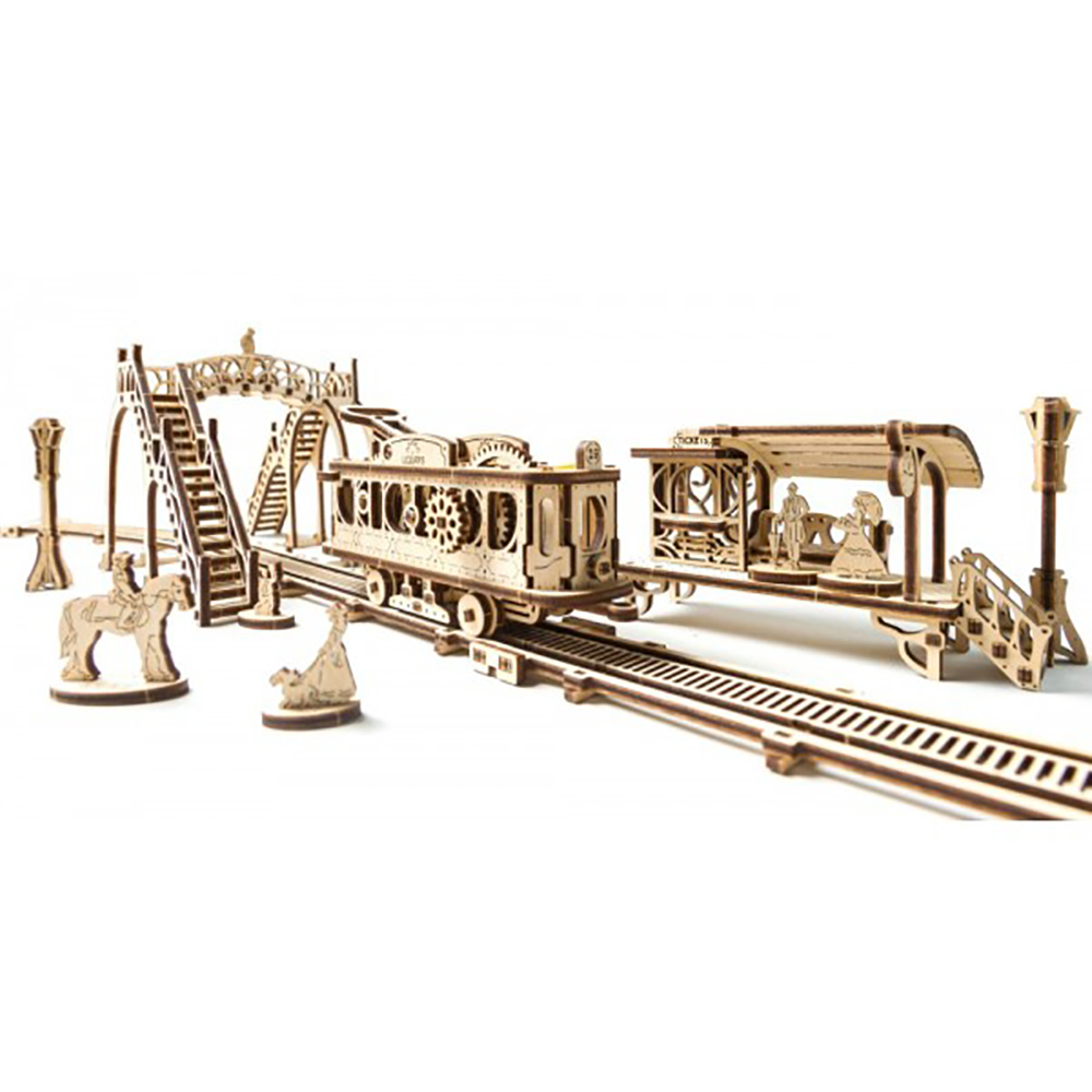 Сборная модель - Трамвайная линияМодели автомобилей для склеивания<br>Сборная модель - Трамвайная линия<br>