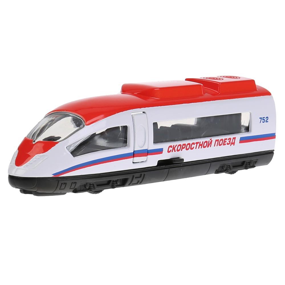 Купить Металлическая инерционная модель - Скоростной поезд, 15 см 19), Технопарк