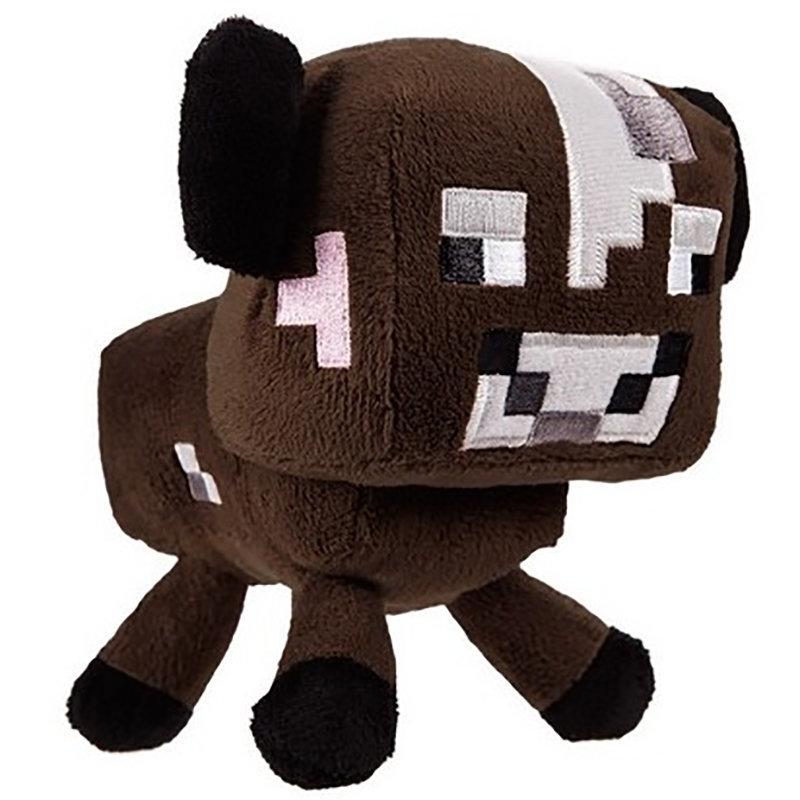 Купить Мягкая игрушка из серии Minecraft - Baby cow коричневый, 18 см., Jazwares