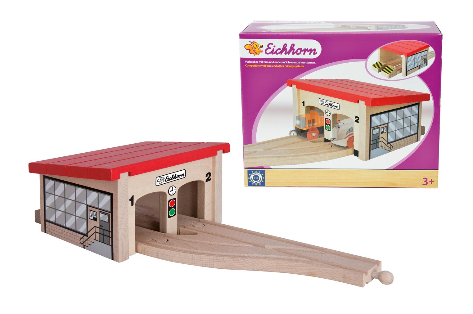 Eichhorn Игровой набор - Депо для 2 поездов