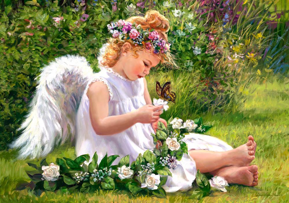 Пазл Castorland 500 деталей Ангел в садуПазлы<br>Пазл Castorland 500 деталей Ангел в саду<br>