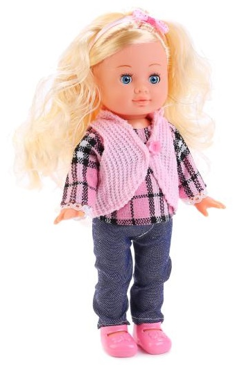 Озвученная кукла Полина, 30 см.Куклы Карапуз<br>Озвученная кукла Полина, 30 см.<br>