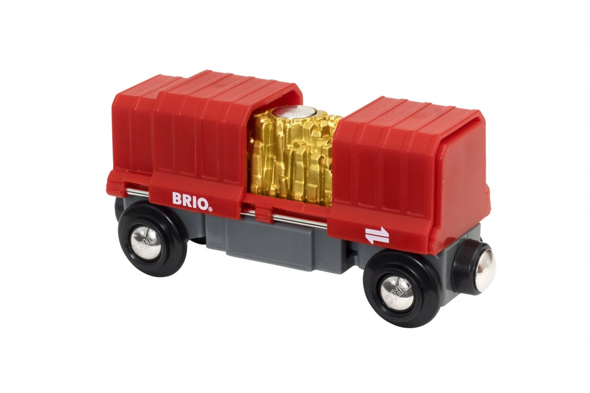 Грузовой вагончик с золотом, 2 элемента, размер 10,7 х 3,5 х 4,9 см. от Toyway