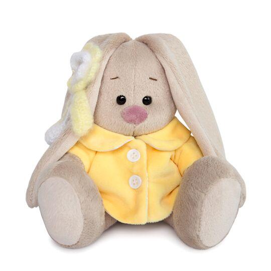 Купить Мягкая игрушка – Зайка Ми в желтом меховом пальто, малыш, 15 см, Budi Basa