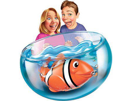 Робо-рыбка Клоун с аквариумом - РобоЧЕРЕПАШКИ, робоРЫБКИ, артикул: 28014