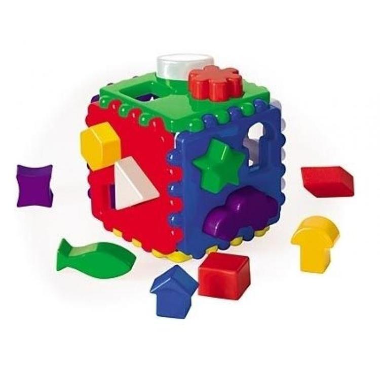 Купить Сортер - Куб логический, большой, Рыжий Кот