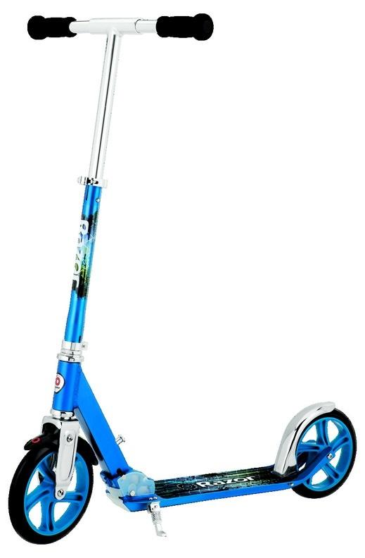 Городской двухколёсный самокат RAZOR A5 Lux, синий, 070203Двухколесные самокаты<br>Городской двухколёсный самокат RAZOR A5 Lux, синий, 070203<br>