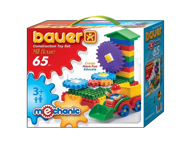 Конструктор «Mechanic» - Мельница малая, 65 элементовКонструкторы Bauer Кроха (для малышей)<br>Конструктор «Mechanic» - Мельница малая, 65 элементов<br>