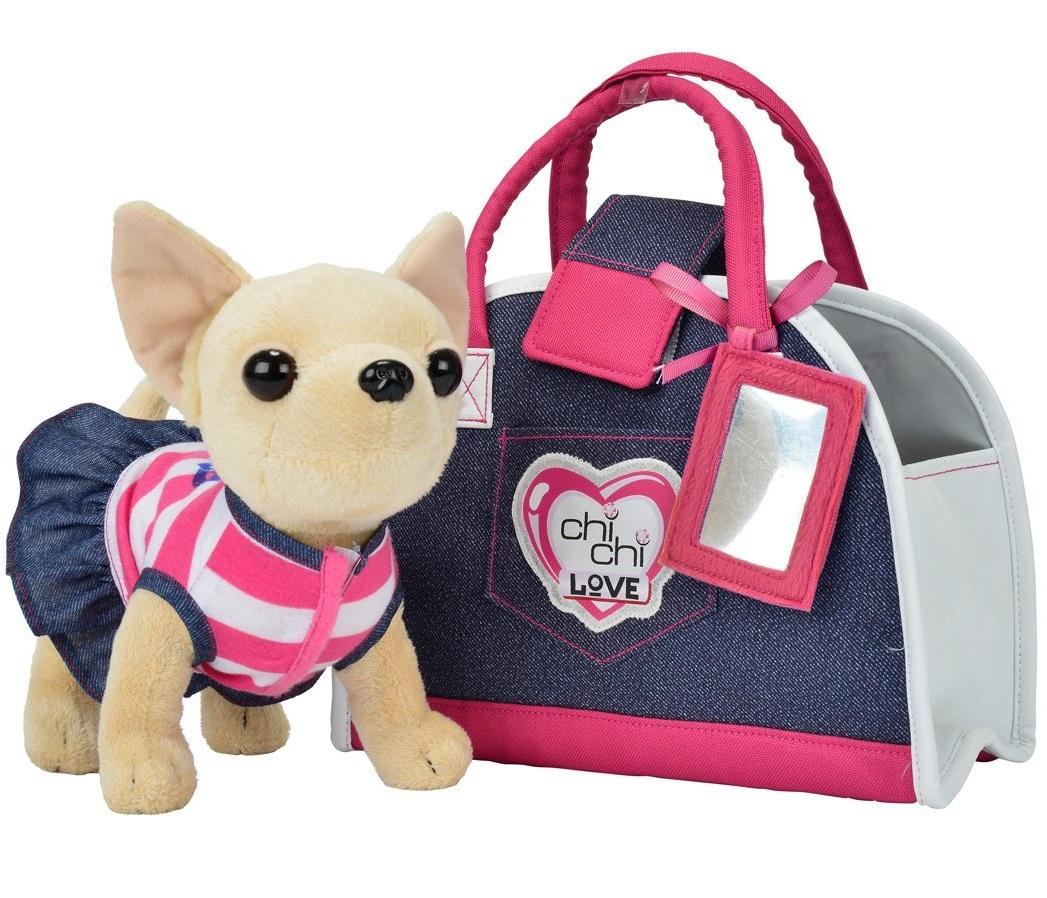 Плюшевая собачка  Чихуахуа. Джинсовый стиль - Chi Chi Love - cобачки в сумочке, артикул: 110410
